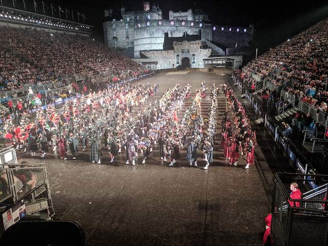 Pipers at the Edinburgh Tattoo