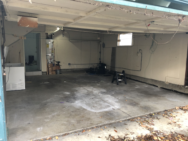 An empty garage