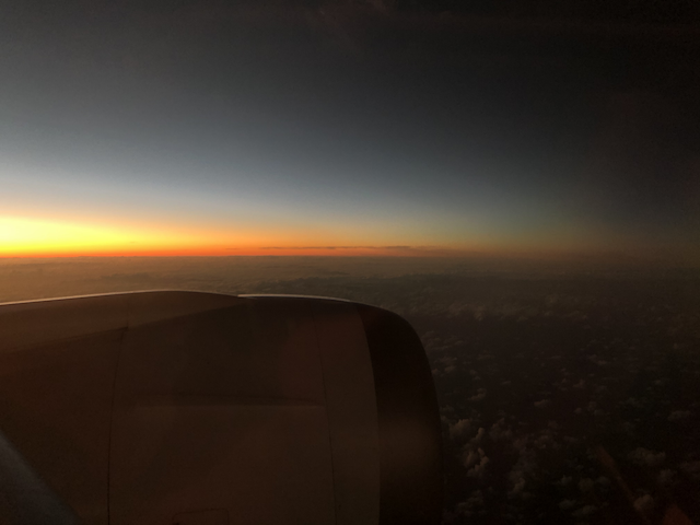 Sunset on the way to AKL